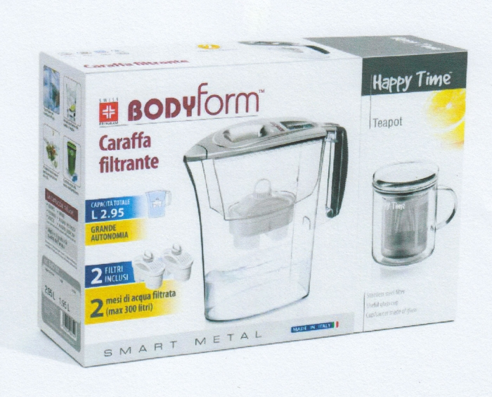 Bodyform: Caraffa filtrante smart + tisaniera art. J964